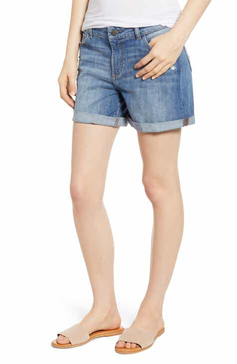 AG The Bryn High Waist Cutoff Denim Shorts (Indigo Deluge Destructed) by AG