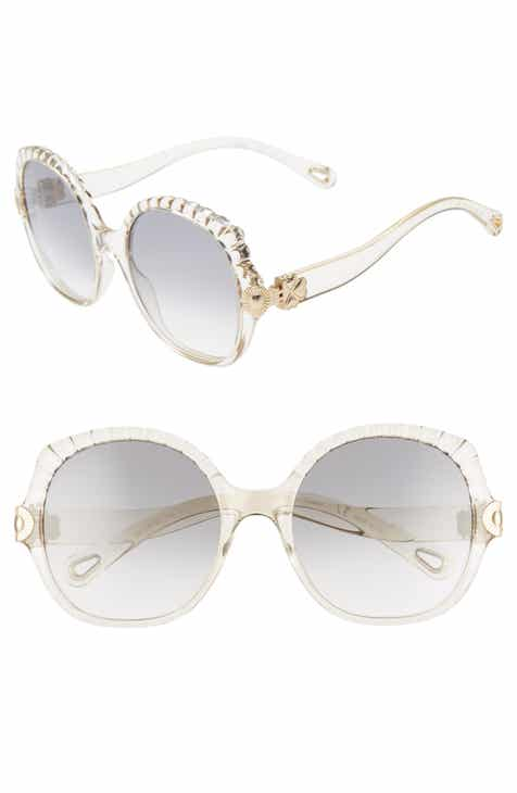 4ef8d8d9045 Chloé Vera 56mm Seashell Shape Sunglasses