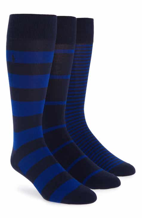 6ac5ba5263c Polo Ralph Lauren 3-Pack Stripe Socks