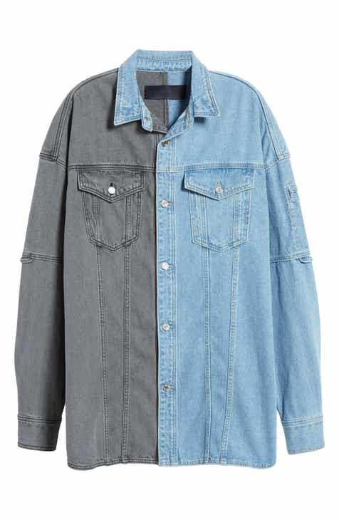 J Two-Tone Denim Shirt