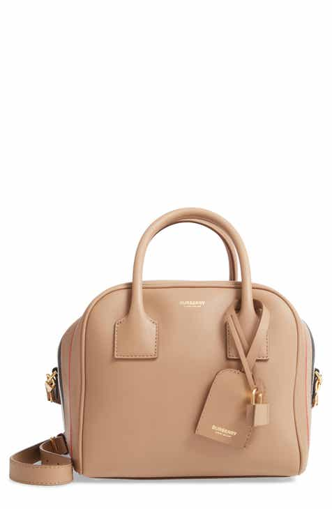 28e179ddd3ef Burberry Small Leather Bowling Bag