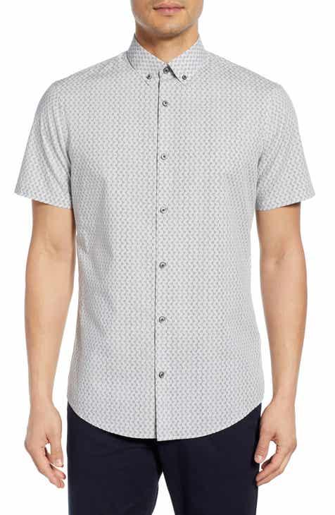 95896eb2e Calibrate Slim Fit Short Sleeve Button-Down Sport Shirt