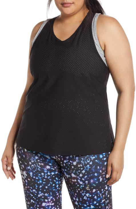 5e4cd1115f14e7 Women s Black Active   Workout Tanks