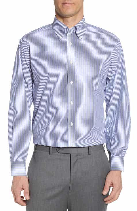 50a916a3 Nordstrom Men's Shop Tech-Smart Classic Fit Stretch Stripe Dress Shirt