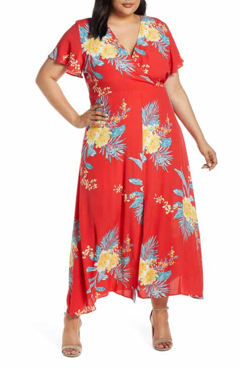 b1aef84f899 Leith Floral Print Maxi Dress (Plus Size)