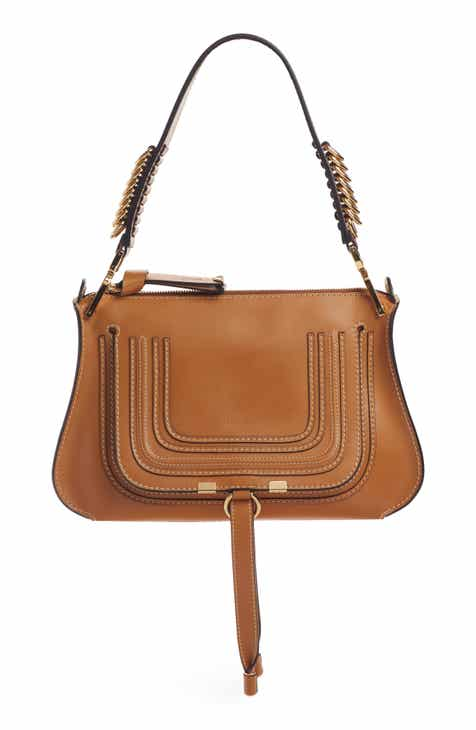 6075bef2af Chloé Marcie Leather Top Handle Bag