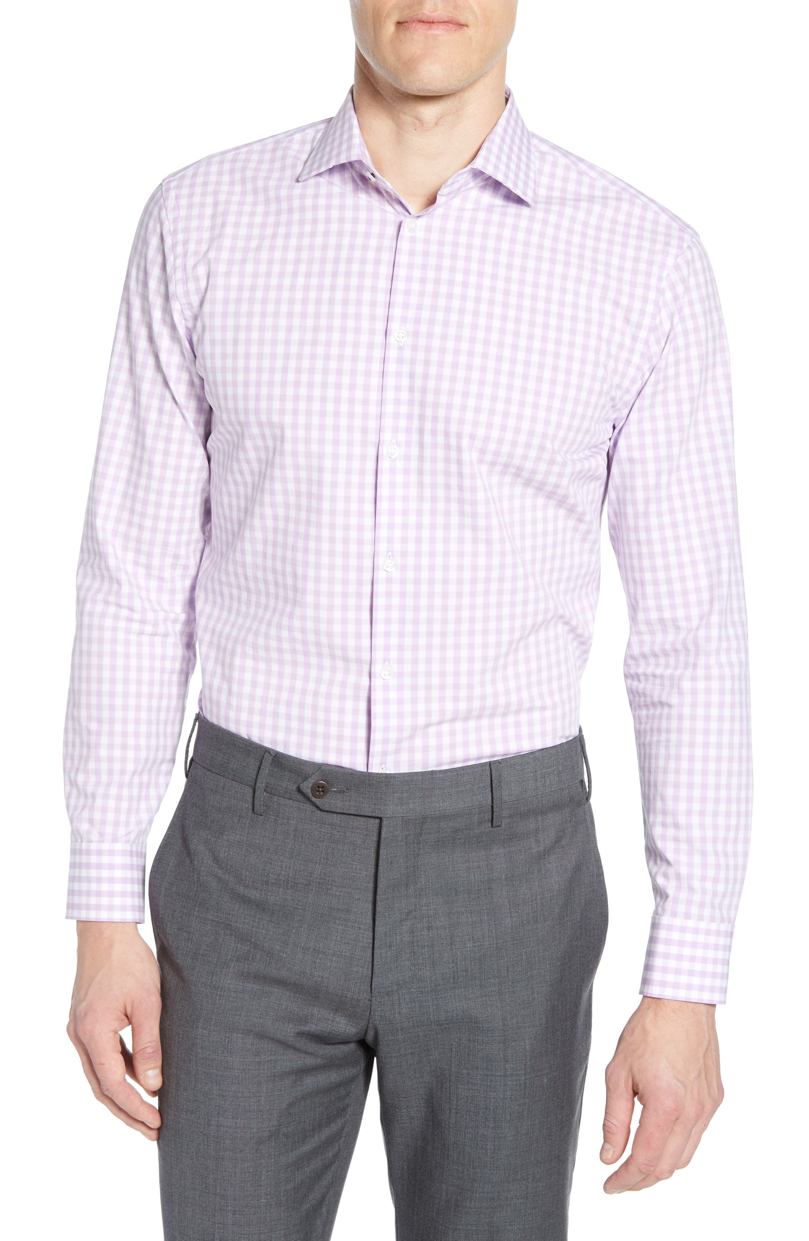 Cheap Price Mizzen Main Men's Dress Shirt Large Slim Trim Fit Light Blue White Checker And To Have A Long Life. Men's Clothing Clothing, Shoes & Accessories