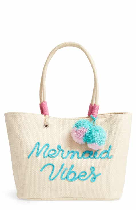 da562b3418ae Capelli New York Mermaid Vibes Straw Tote (Kids)