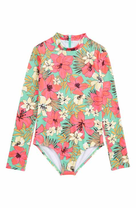 0a8182bea6864 Billabong Aloha Sun One-Piece Rashguard Swimsuit (Big Girls)