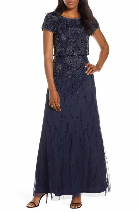 c748b7a2f532 Adrianna Papell Bead Embellished Evening Gown