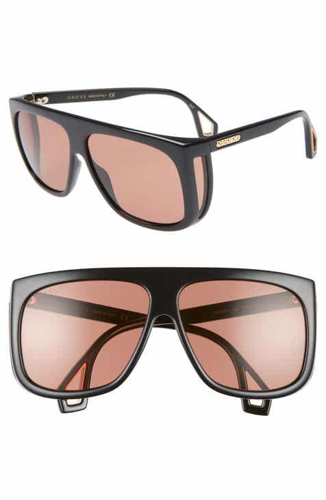 Gucci 62mm Navigator Sunglasses