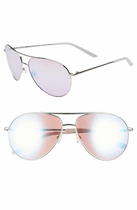 Discount Nike Chance 61mm Mirrored Aviator Sunglasses
