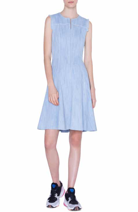 Akris punto Sleeveless Denim Dress