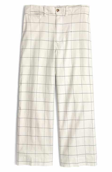 Madewell Emmett Windowpane Crop Wide Leg Pants By MADEWELL by MADEWELL Today Sale Only