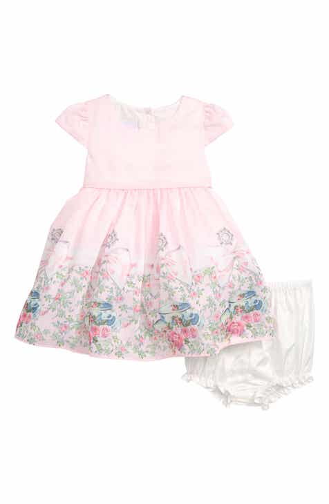 7fca7de8d7a Frais Tea Party Border Print Dress (Baby)