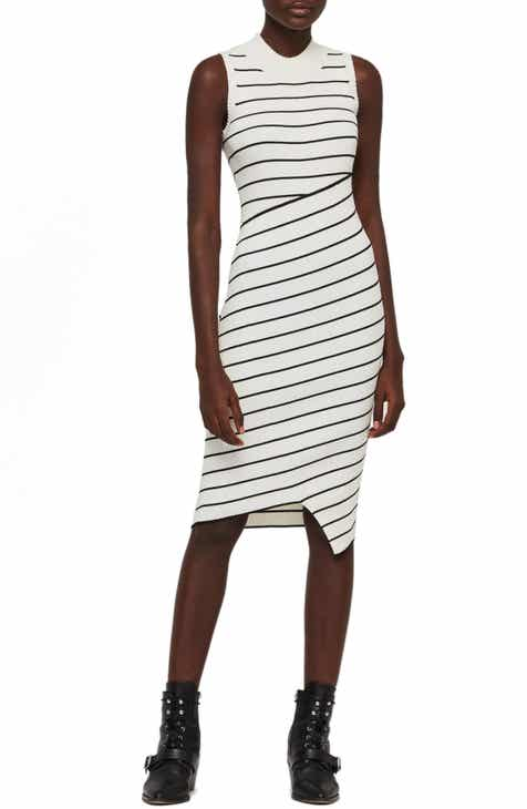 c873b5e5637 ALLSAINTS Amara Stripe Bandage Sweater Dress