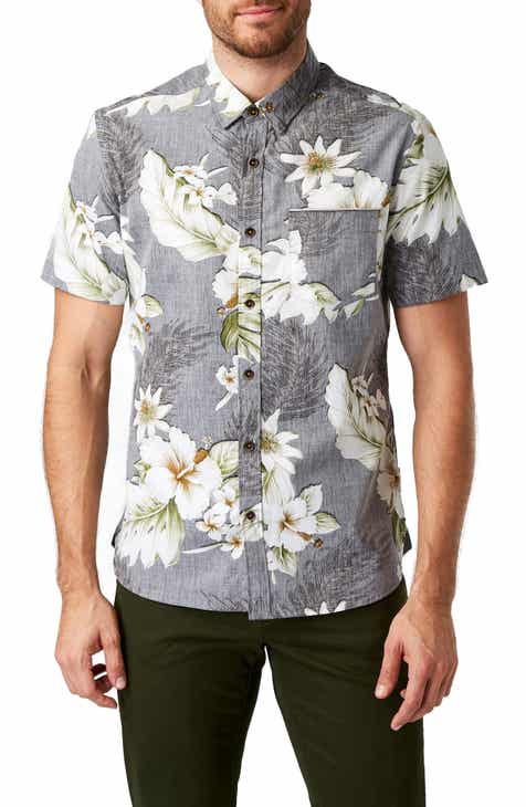 7 Diamonds Tempest Garden Slim Fit Sport Shirt