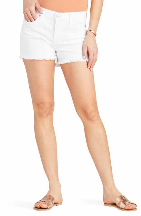 Madewell High Waist Raw Hem Denim Shorts (Lunar) (Regular & Plus Size) by MADEWELL