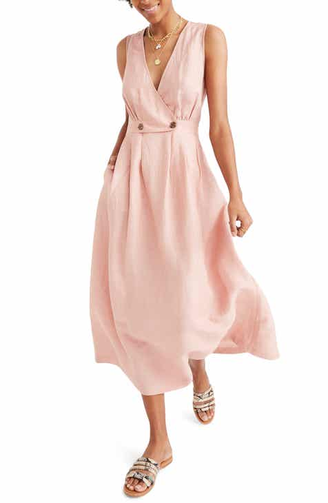 d9bc57b9e9 Madewell Button Waist Midi Dress