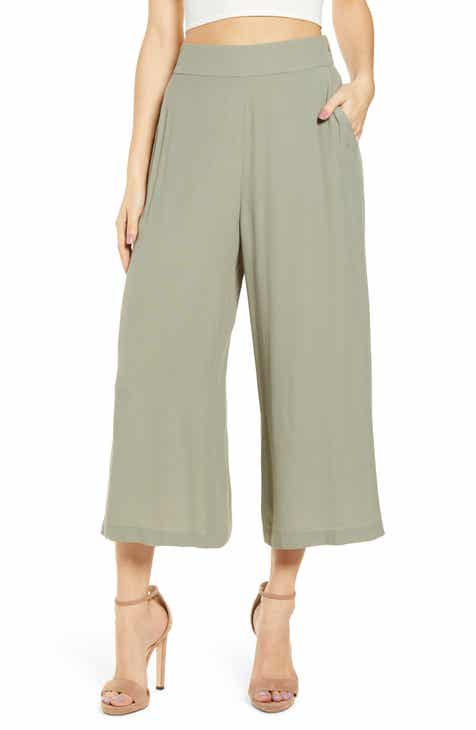 e8573fbfad Women's Green Trouser & Wide-Leg Pants | Nordstrom