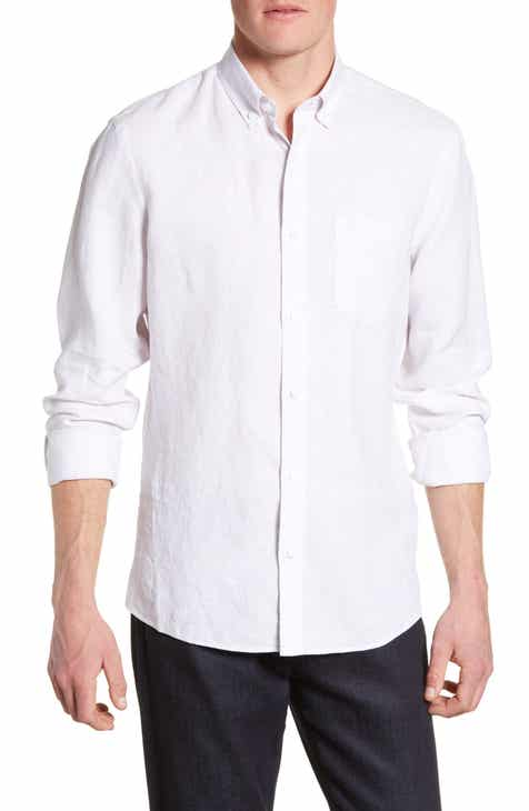 ba48dee0120d Nordstrom Men s Shop Trim Fit Linen Sport Shirt