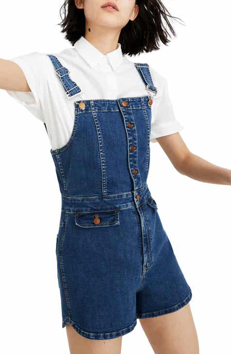 Best  Madewell Dolphin Hem Short Denim Overalls Read Reviews