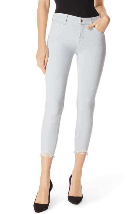 84dde5f3079 J Brand 835 Distressed Hem Crop Skinny Jeans (Laser Beam Destruct)