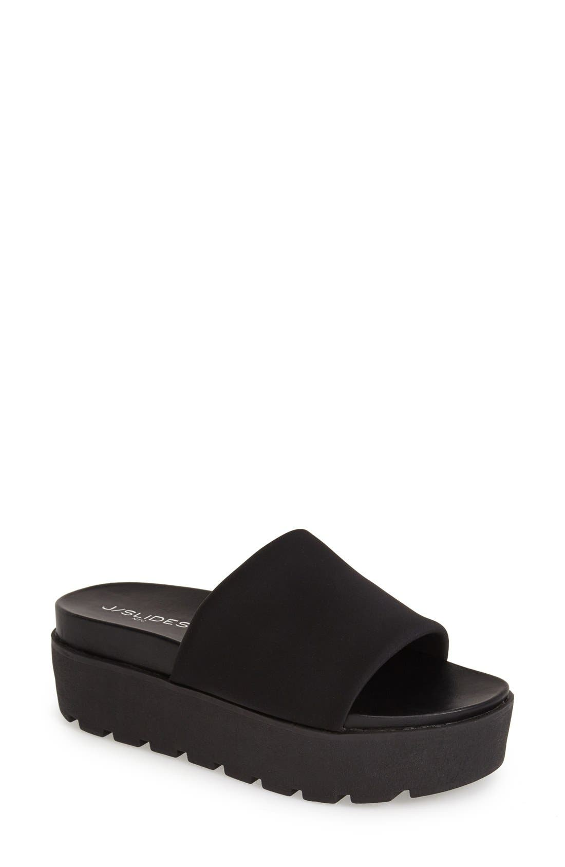 Alternate Image 1 Selected - JSlides 'Telly' Flatform Slide Sandal (Women)