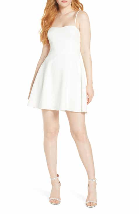 4531fc84429 French Connection Sweetheart Neck Fit   Flare Minidress