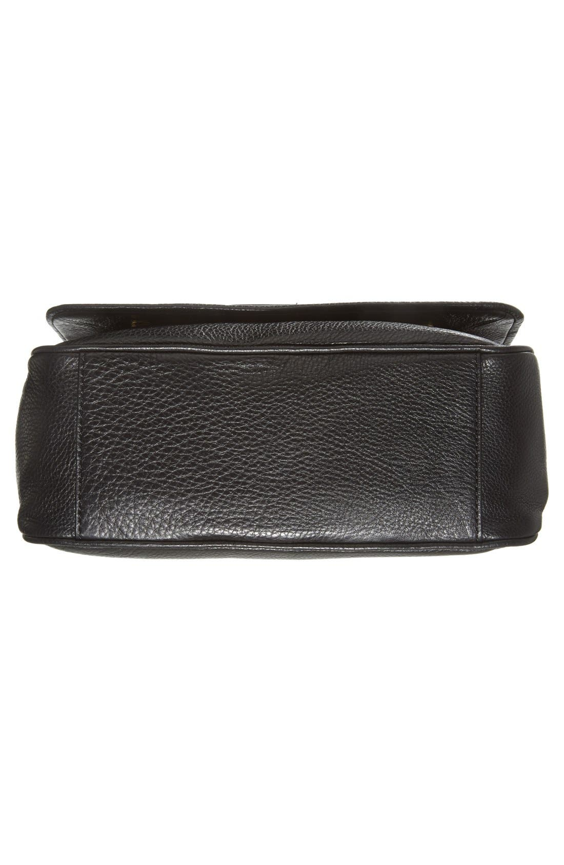 MARC BY MARC JACOBS 'Small Too Hot To Handle' Leather Tote,                             Alternate thumbnail 6, color,                             Black