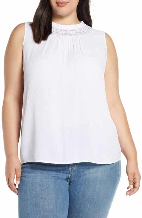 39a213ce90e31 STATE Lace Inset Shirred Neck Top (Plus Size)