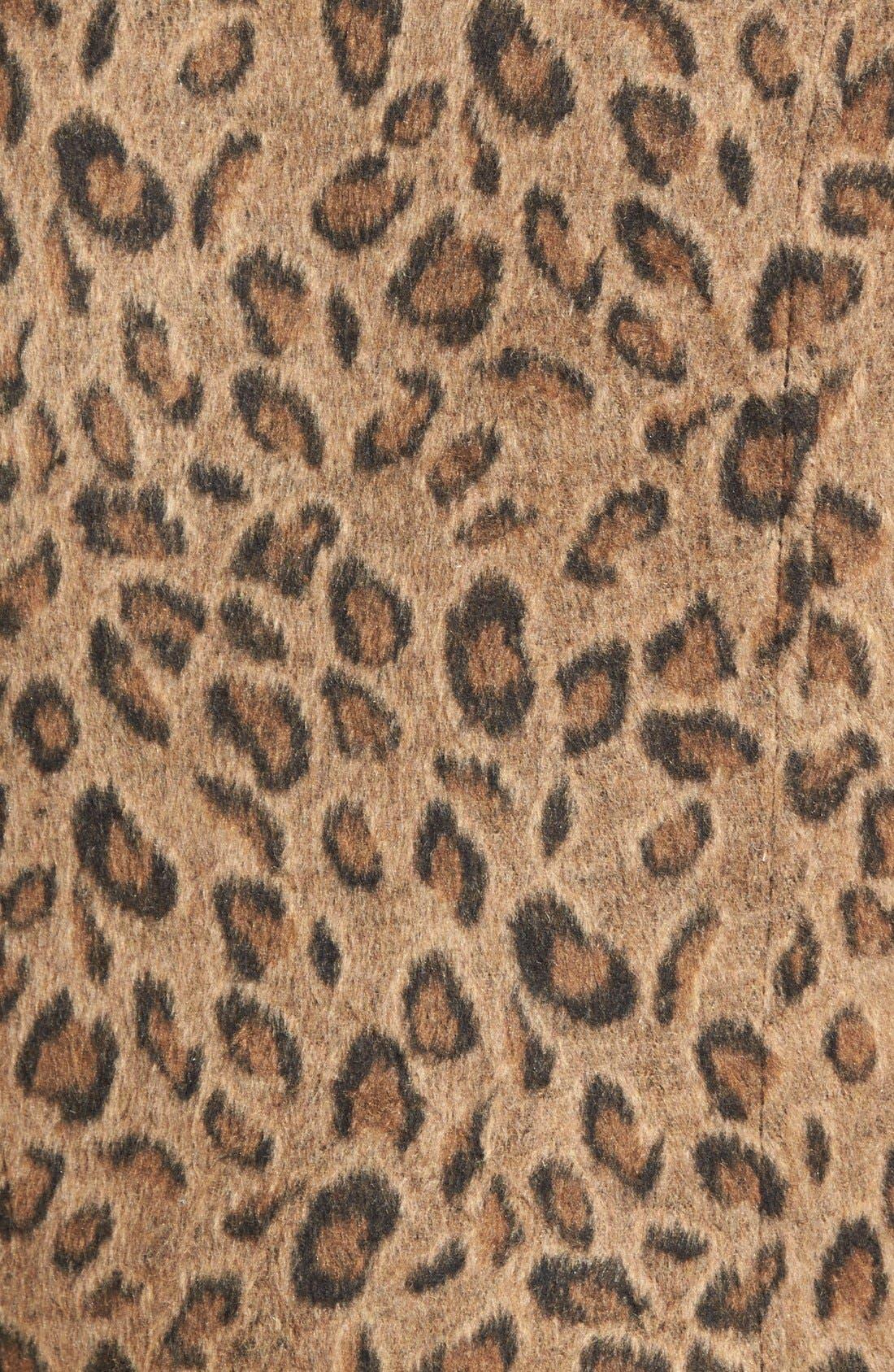 Leopard Print Moto Jacket,                             Alternate thumbnail 5, color,                             Tan Dale Leopard