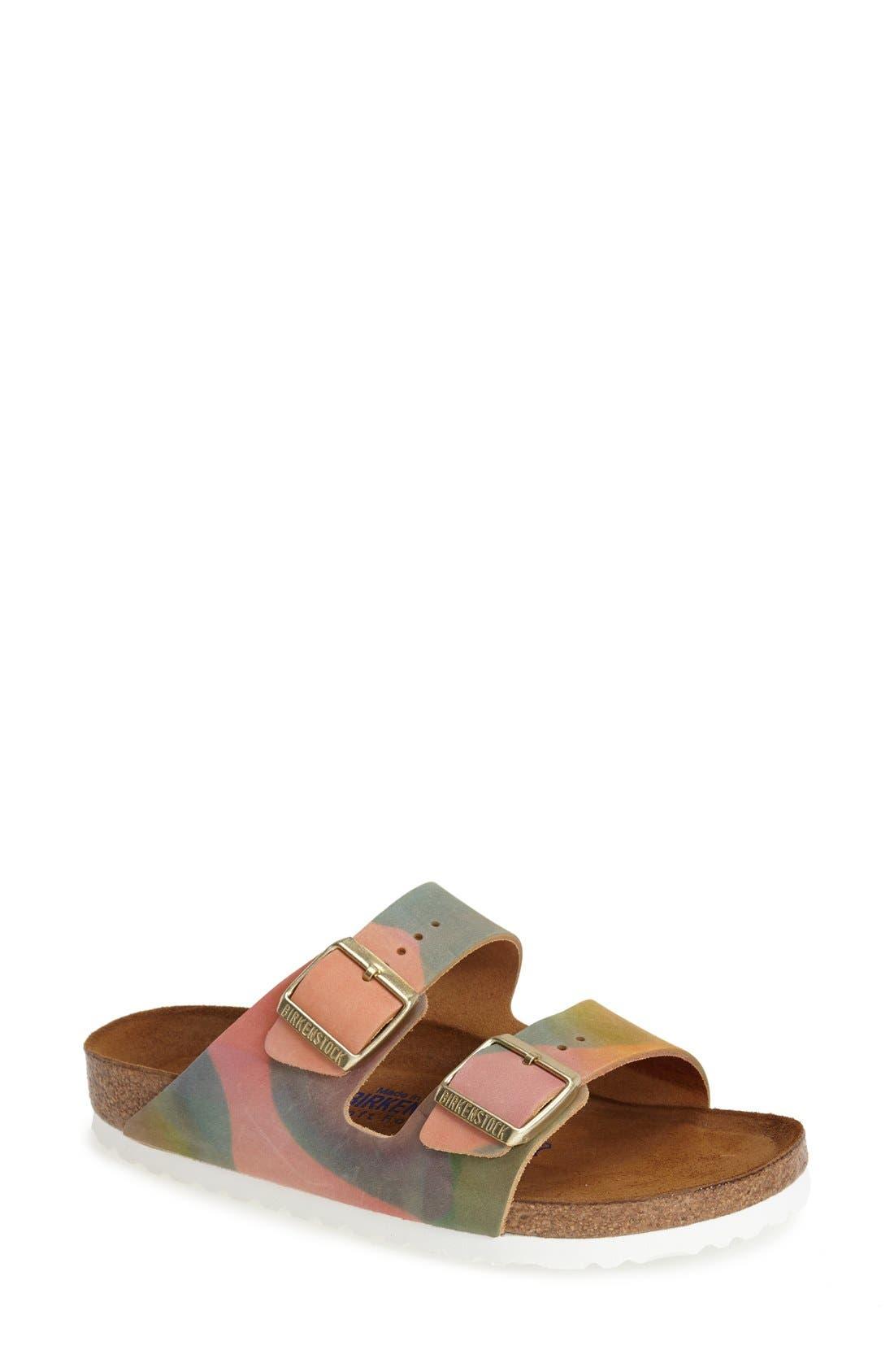Alternate Image 1 Selected - Birkenstock 'Arizona' Nubuck Leather Sandal (Women)