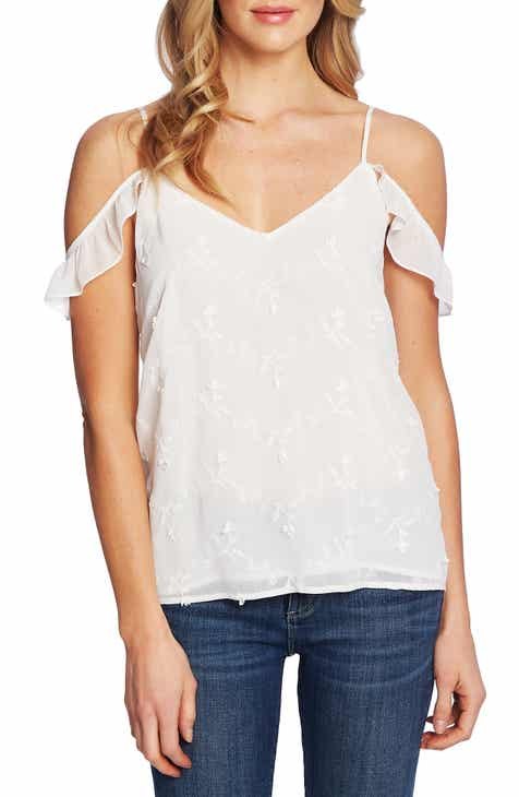 94eac454caa CeCe Embroidered Cold Shoulder Blouse