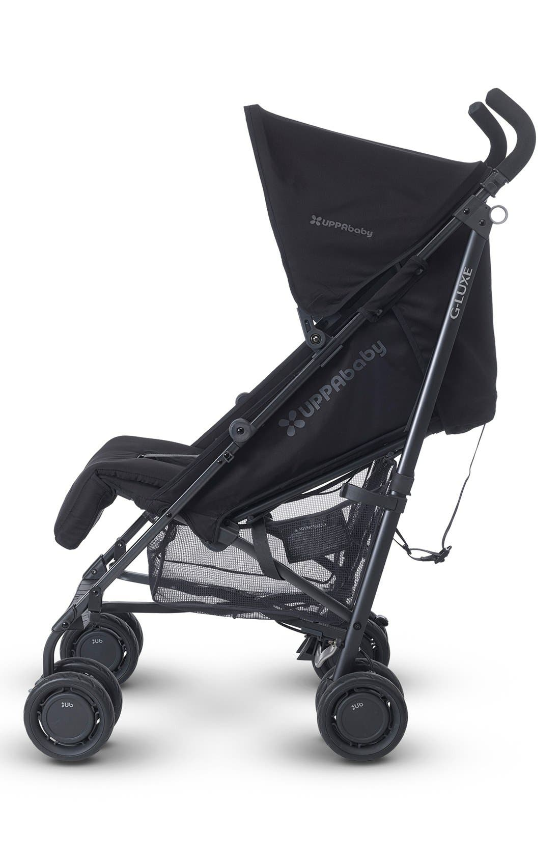 G-LUXE - Black Frame Reclining Umbrella Stroller,                             Alternate thumbnail 5, color,                             Jake Black/ Carbon