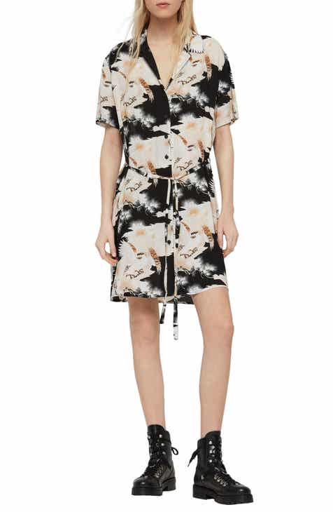 ALLSAINTS Amia Talon Print Shirtdress