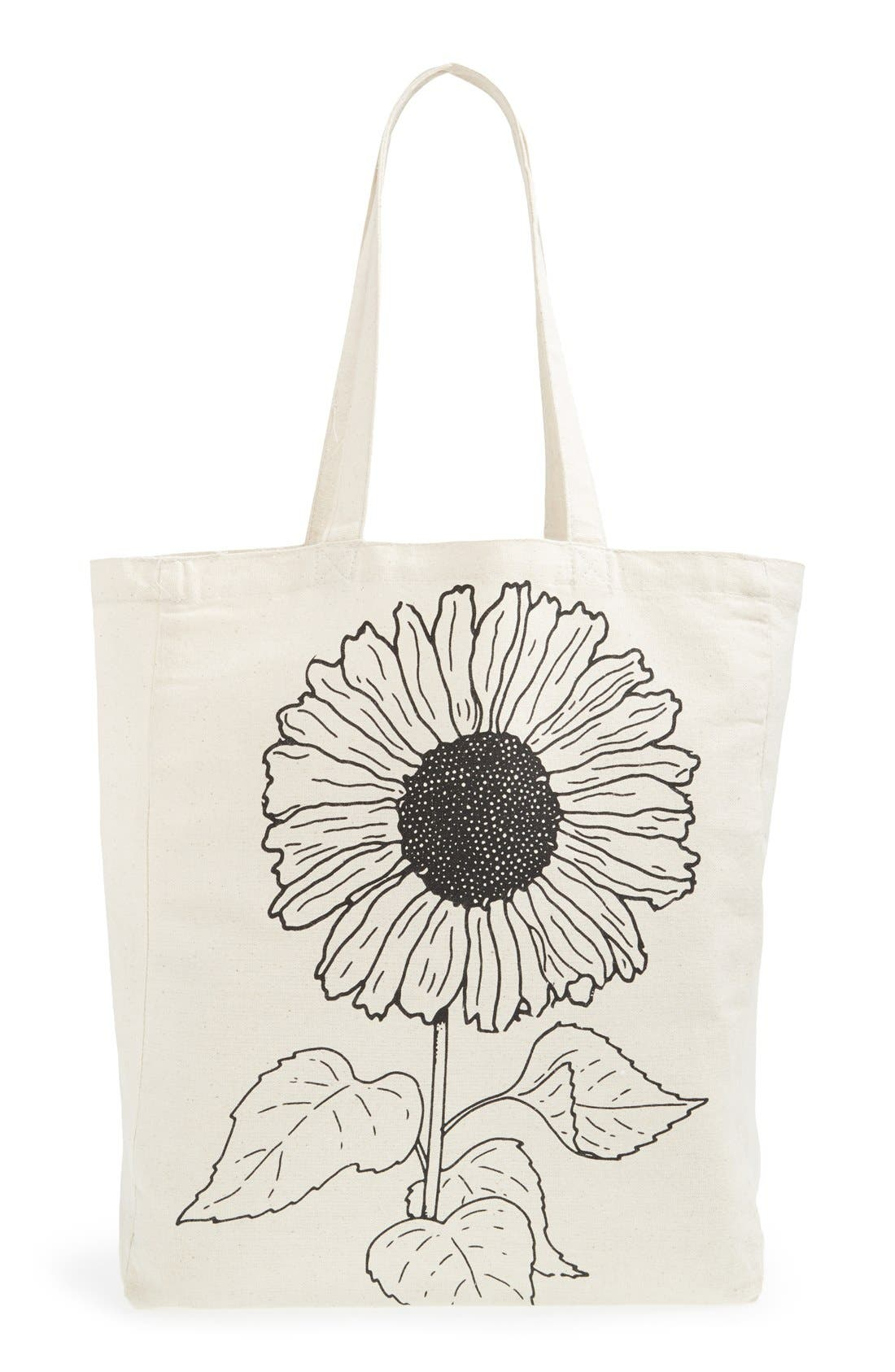 Alternate Image 4  - Tri-Coastal Design 'Sunflower' Canvas Tote