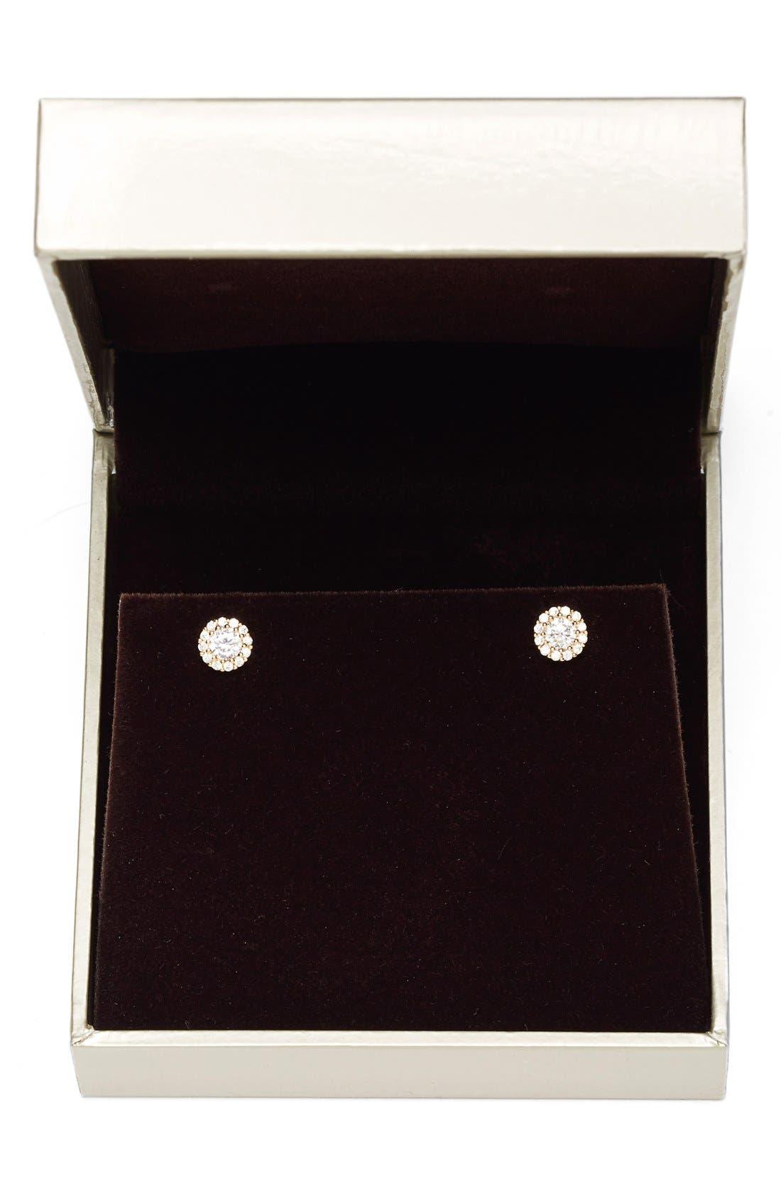Alternate Image 3  - Nordstrom Precious Metal Plated 0.50ct tw Cubic Zirconia Stud Earrings