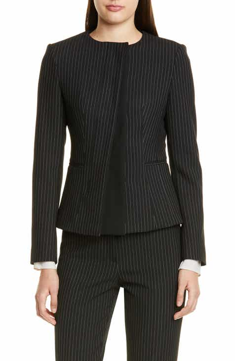 123f63d660173 BOSS Jadela Pinstripe Ponte Suit Jacket (Regular & Petite)