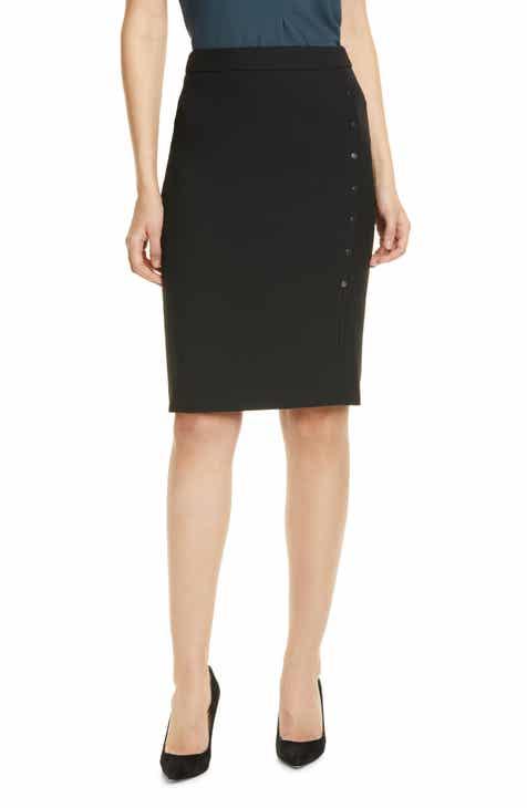 7c69e024c75e76 BOSS Vikilena Ponte Pencil Skirt