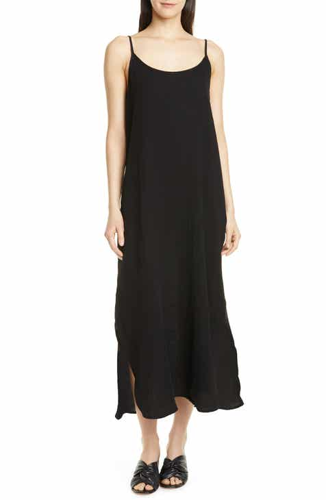 Eileen Fisher Sleeveless Organic Cotton Maxi Dress (Regular & Petite)