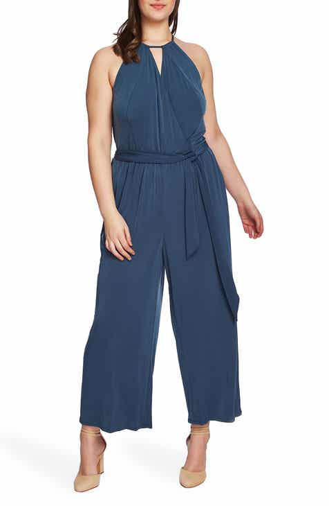 1.STATE Halter Neck Jumpsuit (Plus Size)