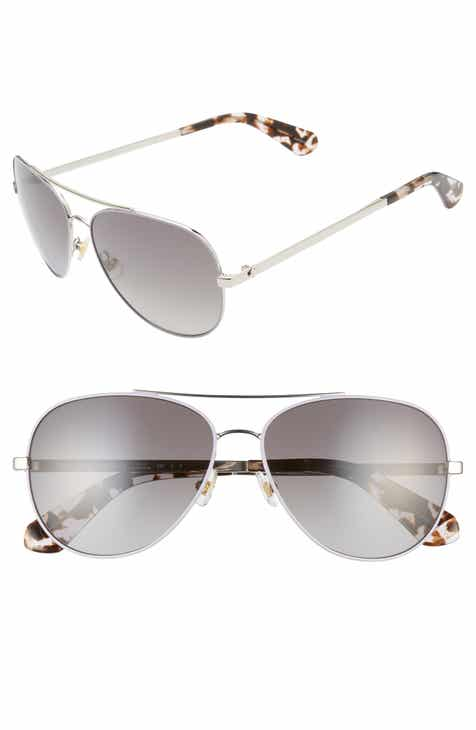 5e4833fc5b kate spade new york avaline 2 58mm polarized aviator sunglasses
