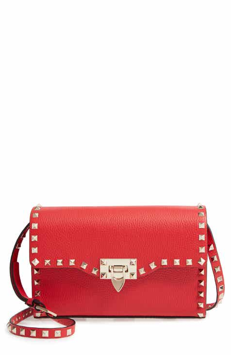 872852778d VALENTINO GARAVANI Medium Rockstud Leather Crossbody Bag