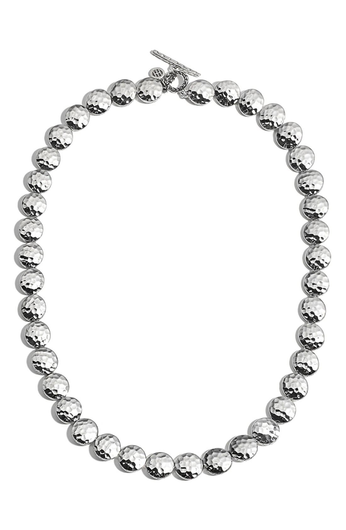 'Palu' Collar Necklace,                         Main,                         color, Silver