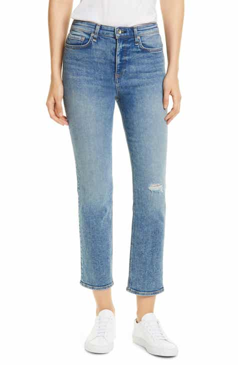 Poetic Justice Ripped Jagged Hem Ankle Jeans (Shark Bite) (Plus Size) by Poetic Justice