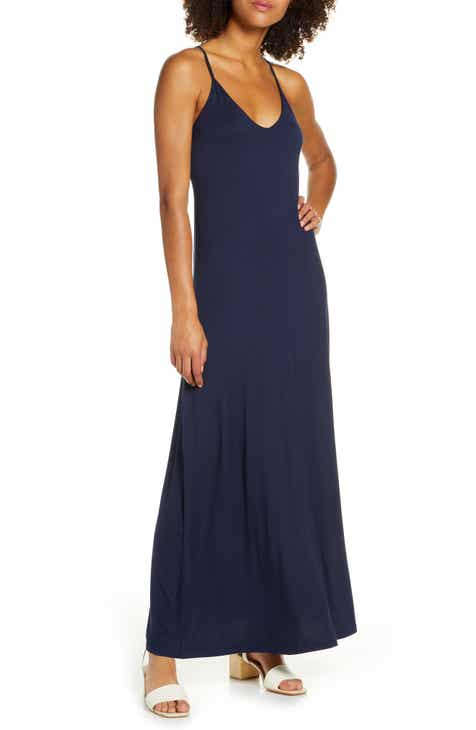 Fraiche by J Racerback V-Neck Maxi Dress