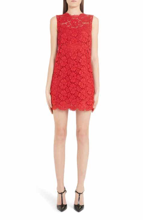 Dolce&Gabbana Sleeveless Lace Minidress