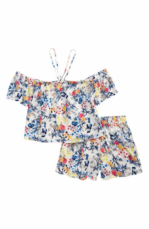 788e539d6169d Tucker + Tate Cold Shoulder Top & Shorts Set (Big Girls)