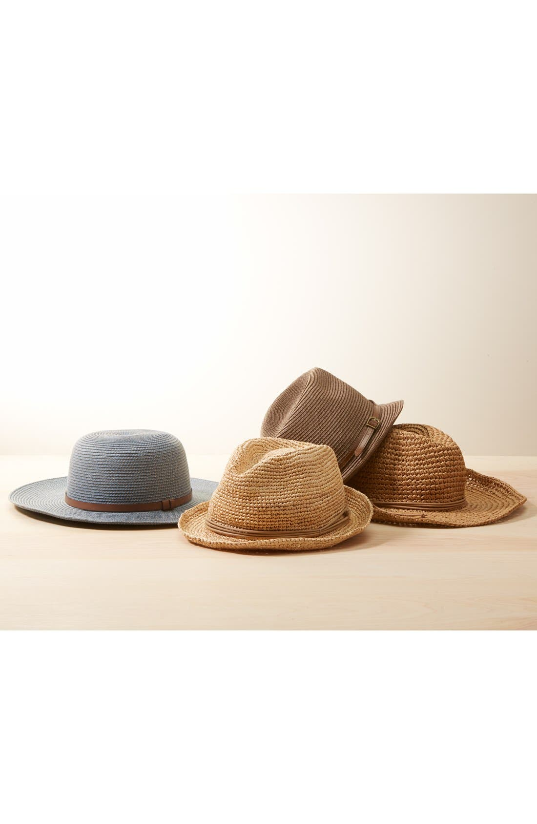 Alternate Image 3  - Nordstrom Straw Floppy Hat